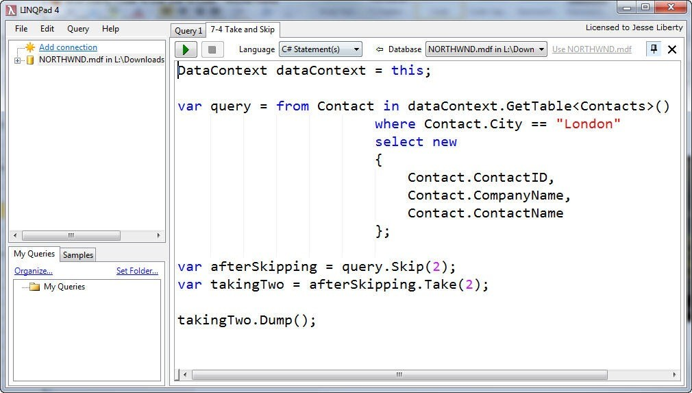 LINQ Pad vs  Visual Studio for Learning LINQ | Jesse Liberty