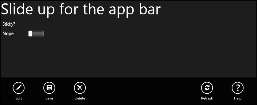 Creating A Sticky AppBar in Win8