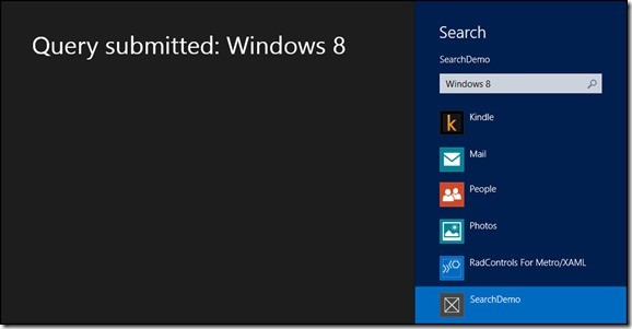Searching in Windows 8 Thorough Charm Bar