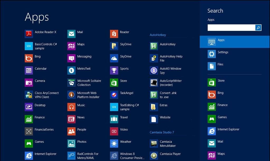 Searching in Windows 8 | Jesse Liberty