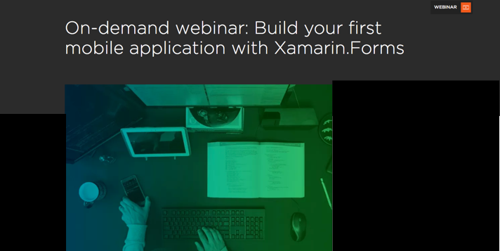 Free Recorded Webinar on Xamarin.Forms
